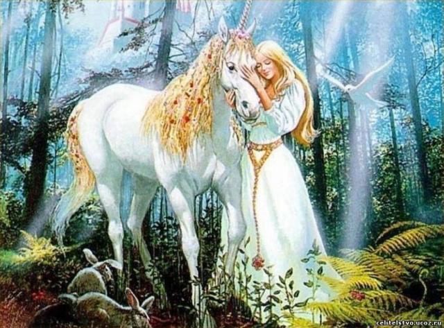 Девушка с белым конем,