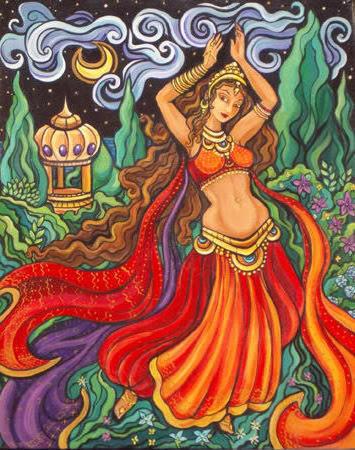 Восточная танцовщица, оригинал