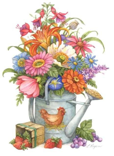 Садовые цветы, оригинал