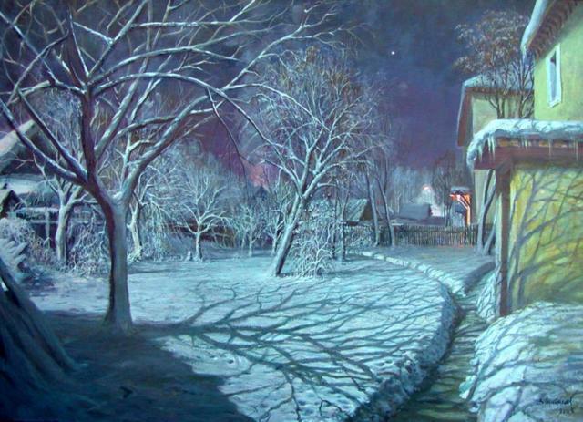 Рождественская ночь, живопись