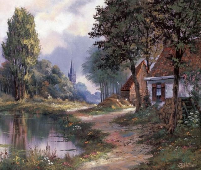 Дом у пруда, оригинал