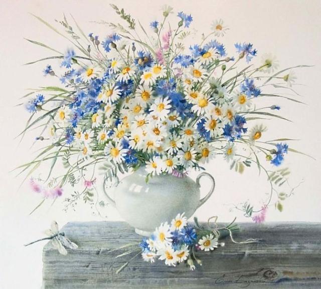 Картинки букетов цветов для вышивки 7