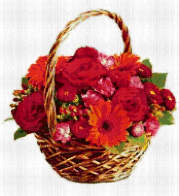 Корзина цветов, предпросмотр