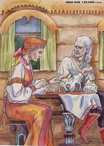 Игра в шахматы, оригинал