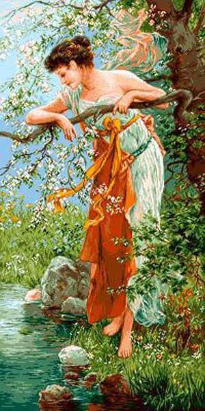 Девушка у ручья..., оригинал