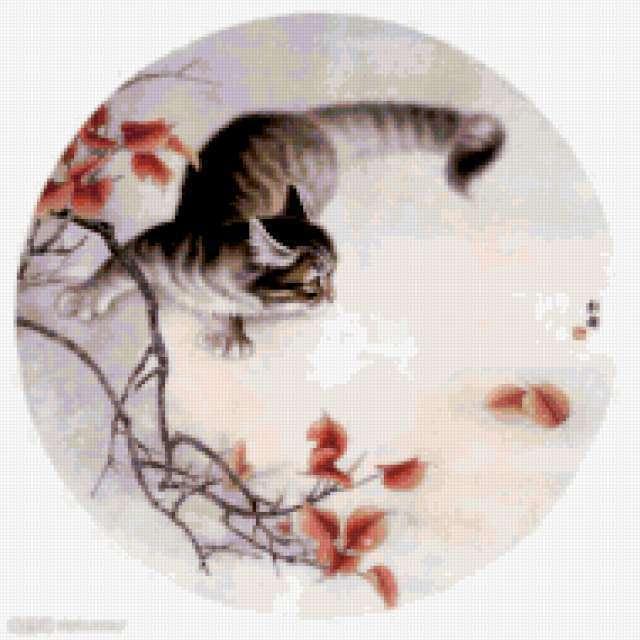Кот в японском стиле,