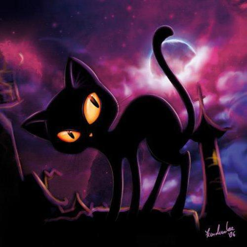 Подушка - черный кот, оригинал