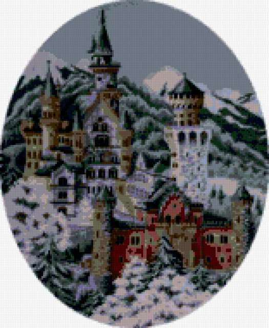 Замок в Баварии, природа,