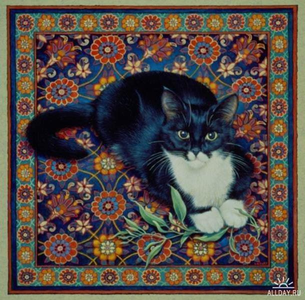 Кошка на ковре, оригинал
