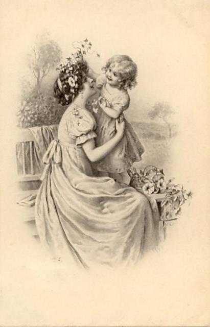 Схема вышивки «Мать и дитя»
