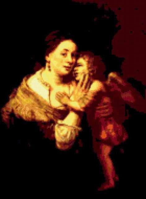 Рембрандт. Венера и Амур.,