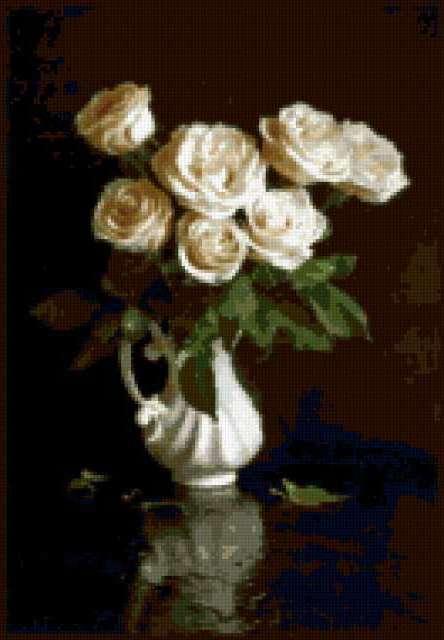 Букет с розами схема для вышивки