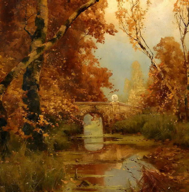 Лесной пейзаж, пейзаж, осень