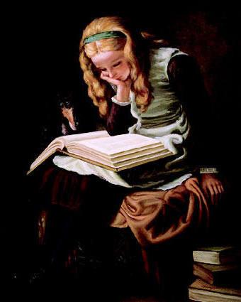 За чтением книги, оригинал