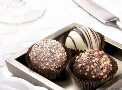 Три шоколадные конфеты