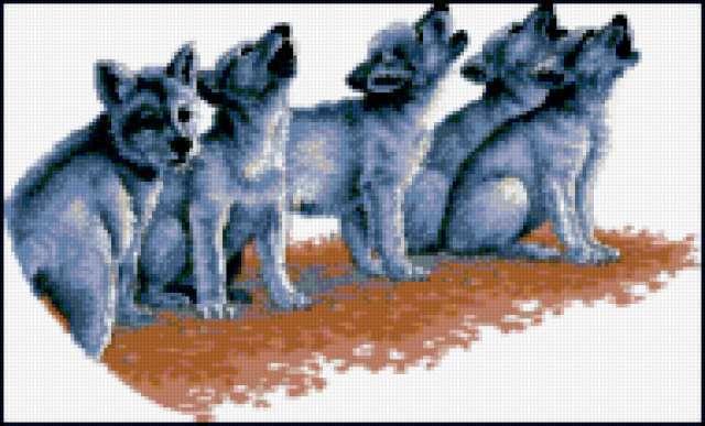 Вышивка волчата схема