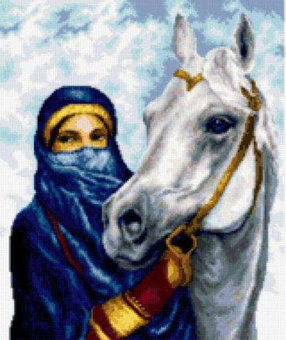 Арабская наездница, восток