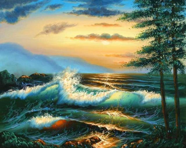 Рассвет над морем..., природа,