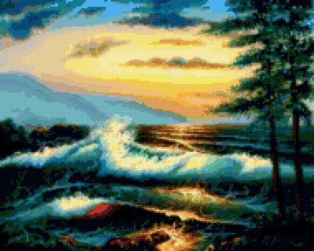 Рассвет над морем...
