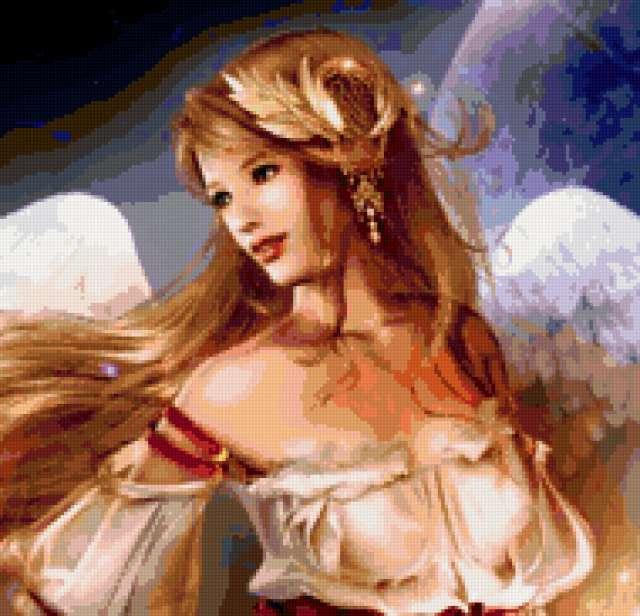 Ангел неземной..., девушка