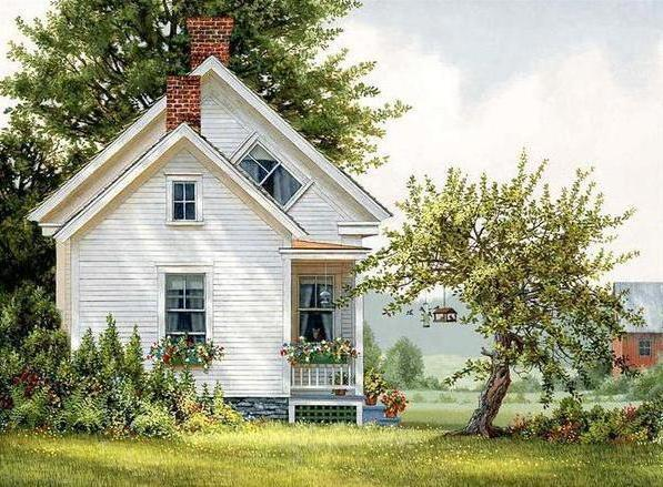 Домик в деревне, природа,