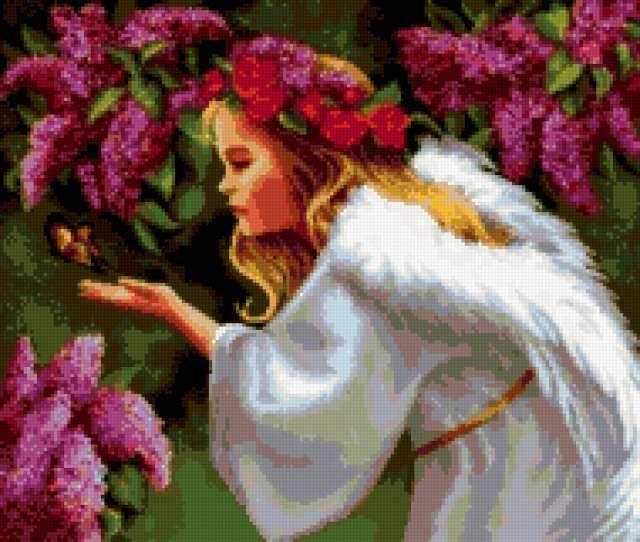 Ангел с бабочкой, предпросмотр