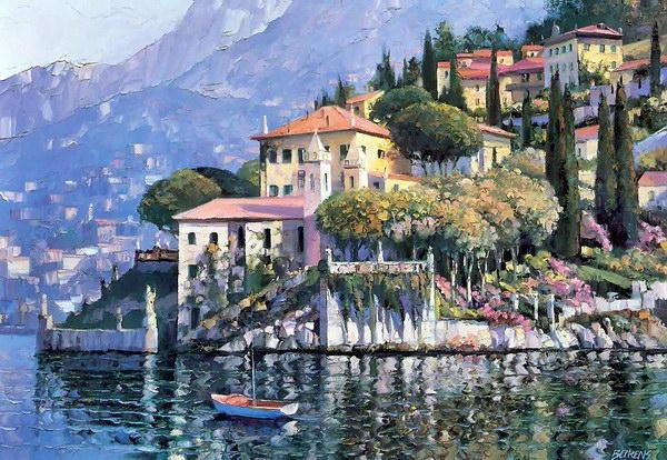 лодка, дома, здания