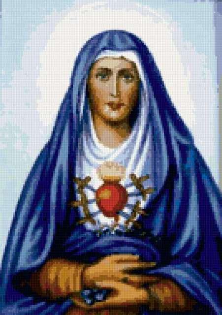 Католическая икона Б. Матери,