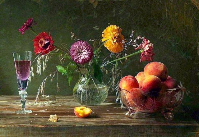 Натюрморт с цветами и