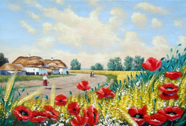 Сельский пейзаж,