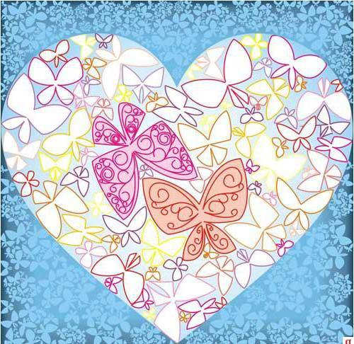 Сердце из бабочек, оригинал