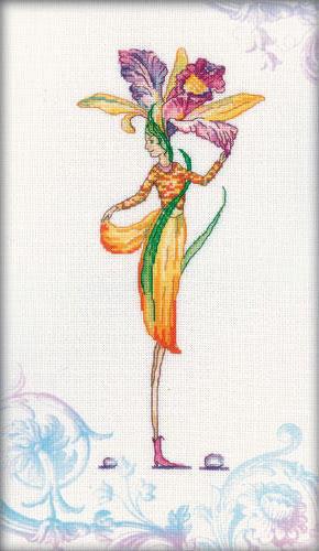 Девушка орхидея, цветы