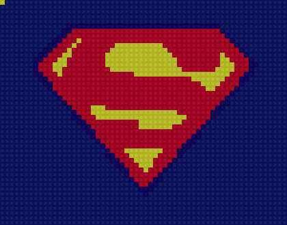 Супергерои схема вышивки