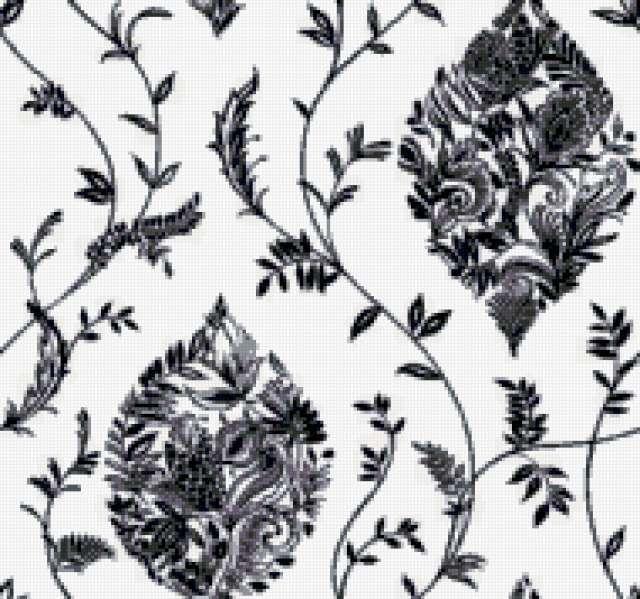 Подушка в черно-белом цвете,