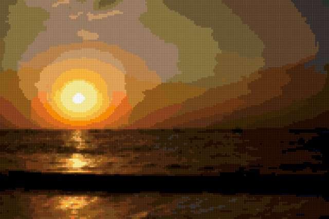 Море,рассвет, предпросмотр