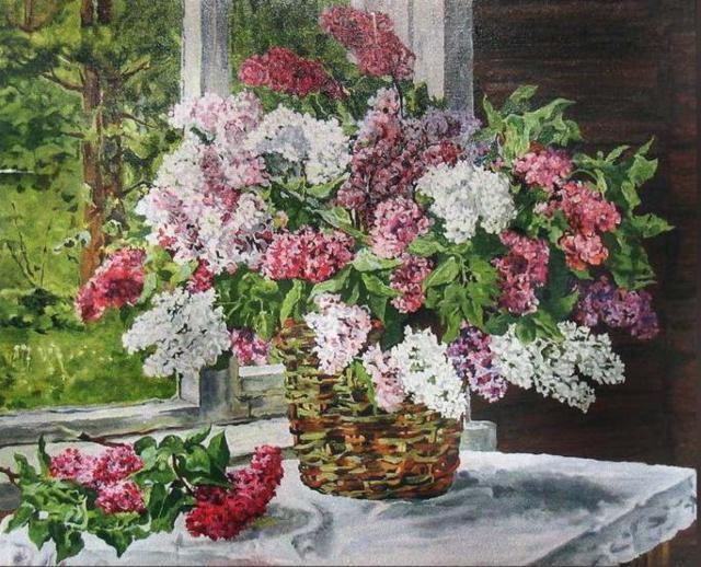 Крестом вышивка цветы