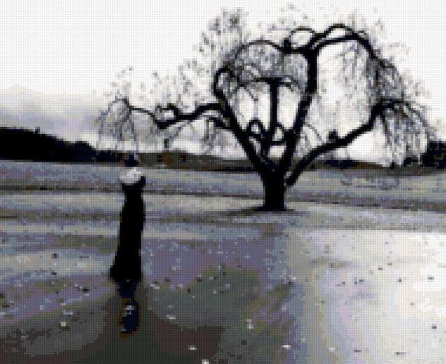 Я одна и дерево одно..........