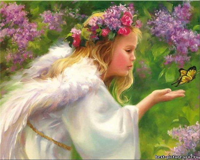 Цветочный ангел, ангел
