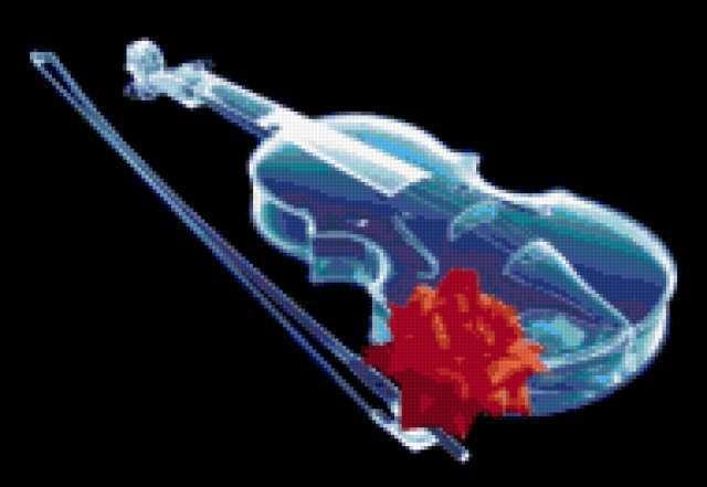 Скрипка и розы 3, предпросмотр
