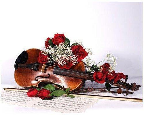 Скрипка и розы 7, оригинал