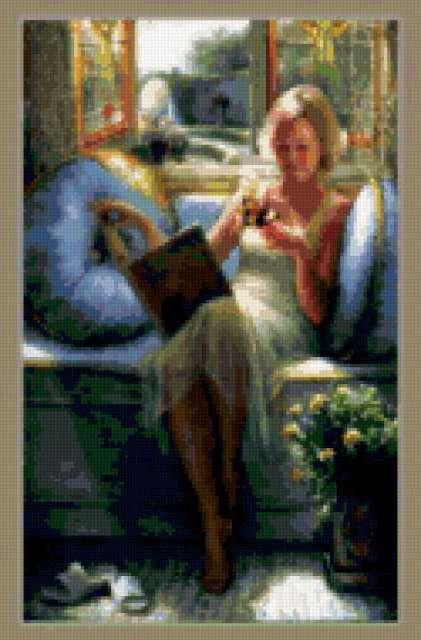 Чтение у окна, предпросмотр