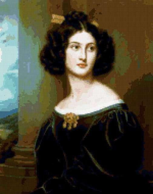 Женский портрет, картина