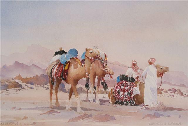 Desert Painting, desert, camel