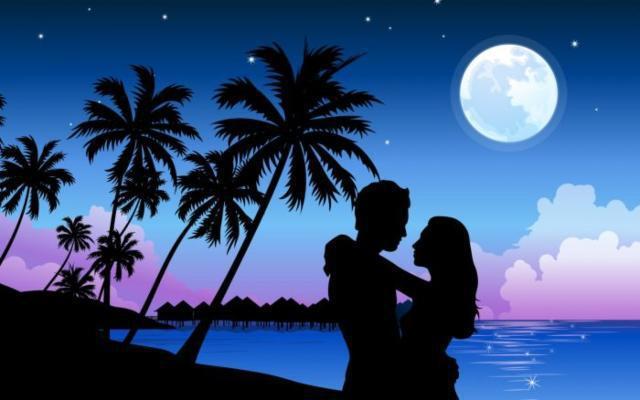 Романтика, ночь, пара, двое,