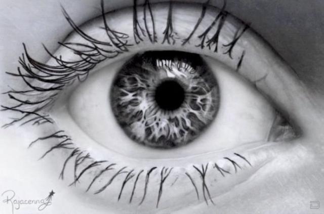 глаза картинки черно белые