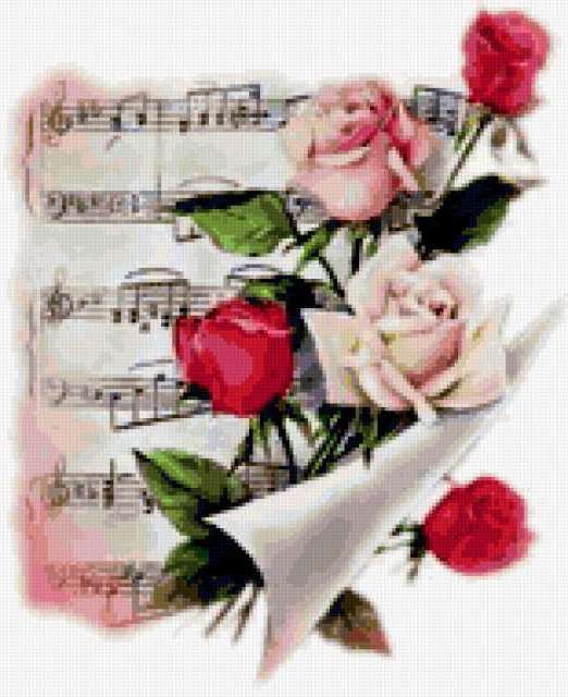 Розы и ноты, предпросмотр