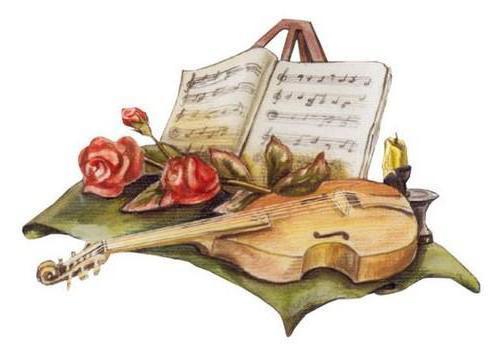 Розы и ноты, розы, цветы,