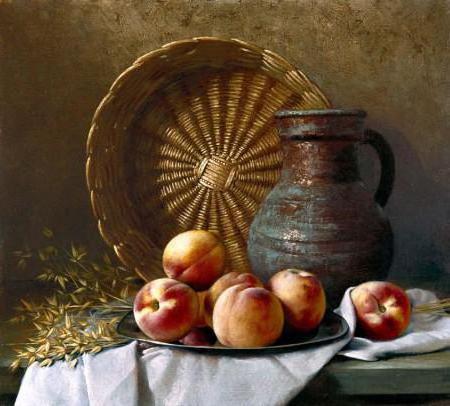 Кувшин с персиками, оригинал