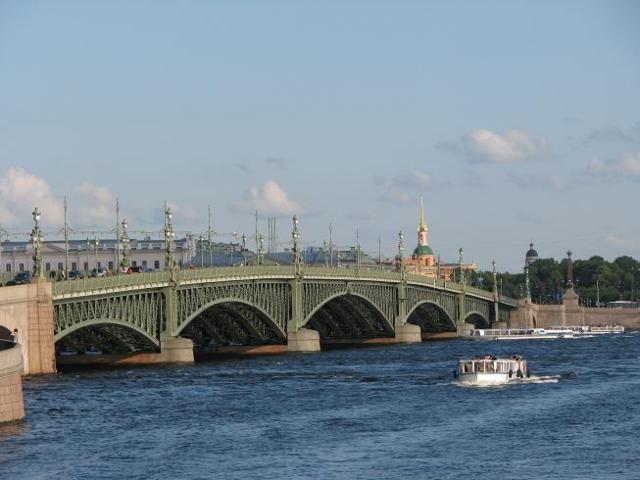 Троицкий мост СПБ, город