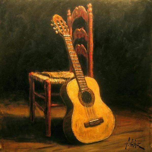 Гитара, гитара, стул